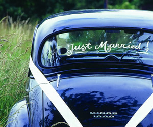 just married and quote image