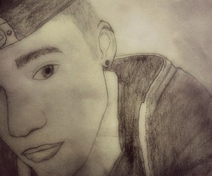 drawing, justin bieber, and cute image
