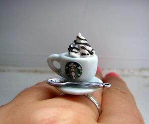 hipster, ring, and starbucks image