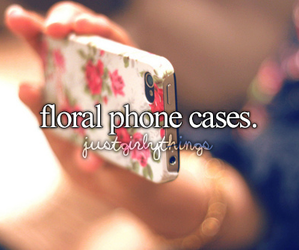case, floral, and phone image