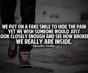 quote, fake smile, and fake image