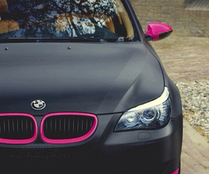 car, bmw, and pink image