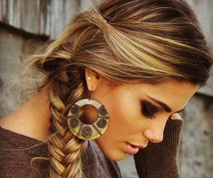 girl, hair, and braid image