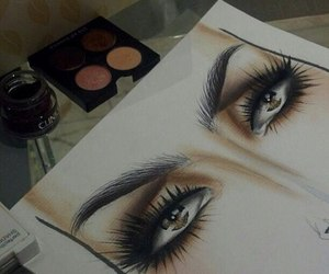 eyes, make up, and art image