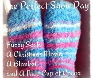 christmas, socks, and snow days image