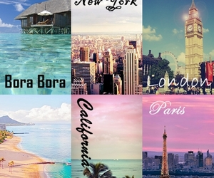 bora bora, london, and new york image