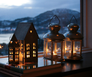 light, candle, and winter image