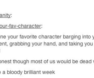 bloody, brilliant, and character image