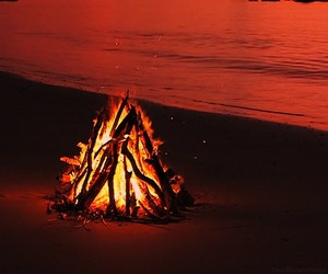 beach, fire, and gif image