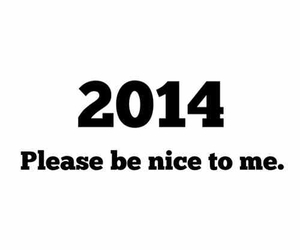 2014, please, and new year image