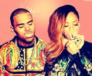 rihanna, chris brown, and smoke image
