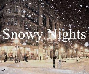 snow, night, and winter image