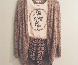 cardigan, sweater, and fall image