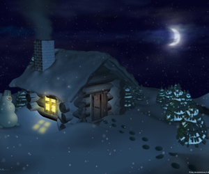 cottage, dark, and night image