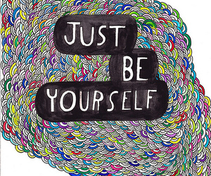 yourself, quote, and art image