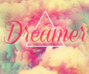 clouds, dreamer, and triangle image