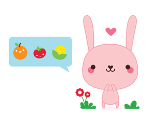 bunny, cute, and flowers image