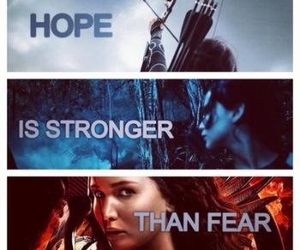 the hunger games, catching fire, and fear image
