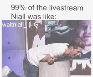 1d, niall horan, and niall's laugh image