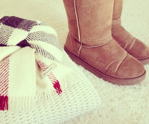 boots, Burberry, and uggs image