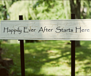 happy, sign, and happily ever after image