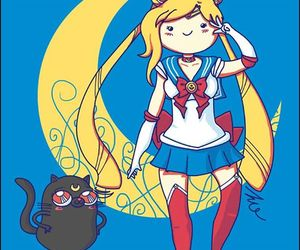 sailor moon, adventure time, and fionna image