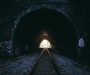 tunnel and light image
