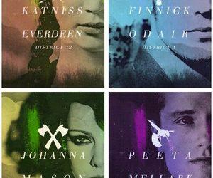 katniss everdeen, catching fire, and peeta mellark image