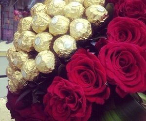 rose, chocolate, and red image