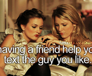 friends, text, and gossip girl image