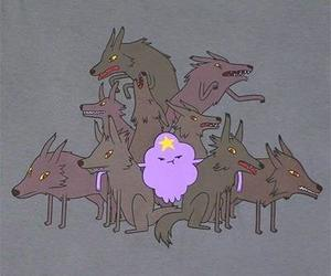 adventure time, lumpy space princess, and wolf image