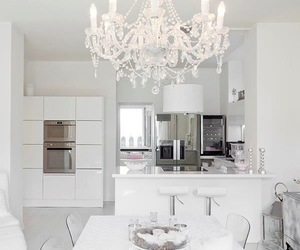 kitchen, white, and luxury image