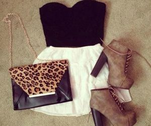 black, leopard, and cute image