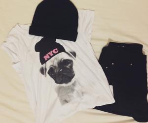 beanie, denim, and fashion image