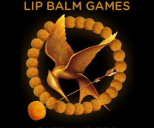 eos, hunger games, and lip balm image