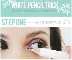 white, makeup, and eyes image