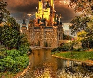 castle and disney image