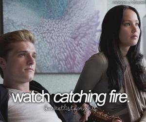 movie, catching fire, and peeta image