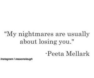nightmare, katniss, and losing you image