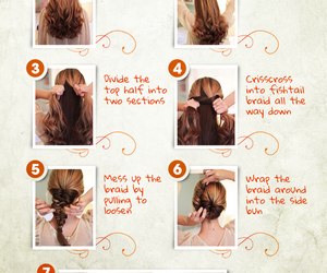diy, peinados, and hair image