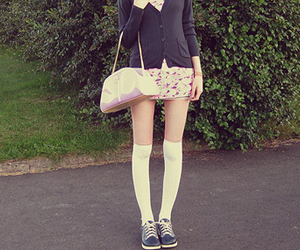 cardigan, legs, and pretty image