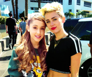 ariana grande, miley cyrus, and miley image
