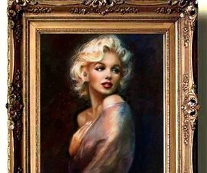 Marilyn Monroe, painting, and theo danella image