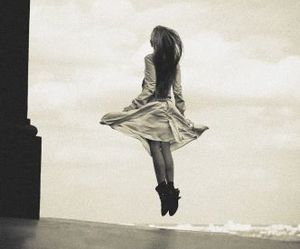 girl, jump, and fly image