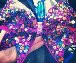 bow, cheer, and cheerleading image