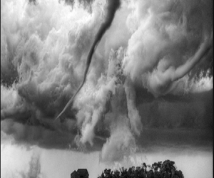 clouds, nature, and tornado image