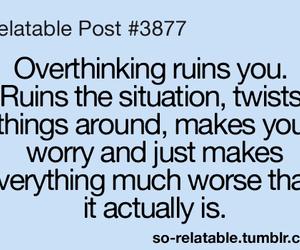 overthinking and life image