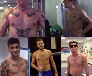 perfection, shirtless, and one direction image
