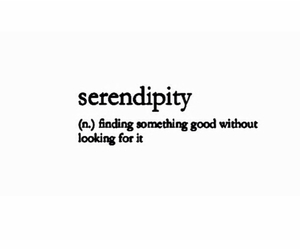 serendipity and quote image