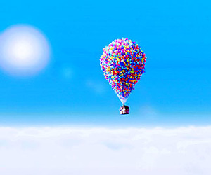 sky, up, and balloons image